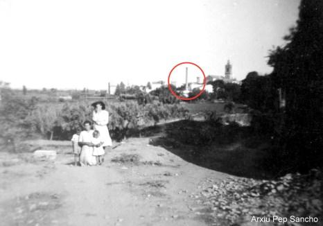 Vista de Quart des de les hortes del riu (Arxiu Pep Sancho).