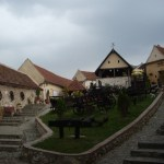 Main Square in Rasnov Citadel