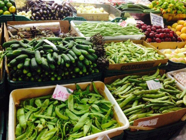 Vegetais no Mercado Público de Porto Alegre