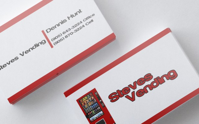 Steves vending business card mockup