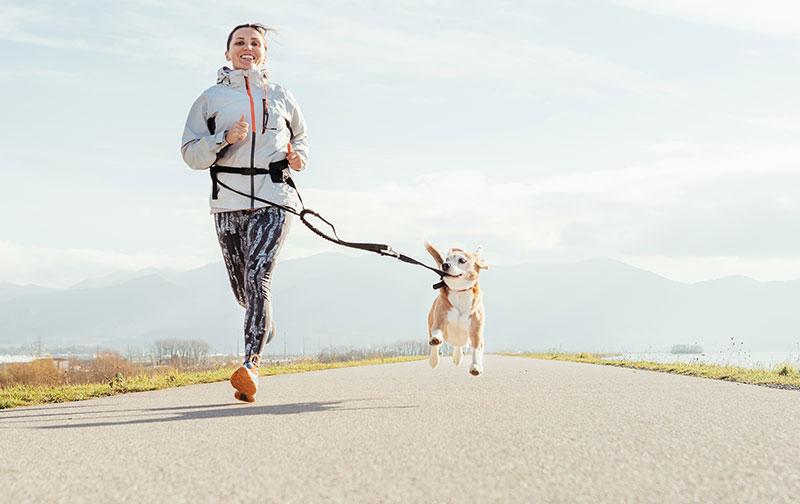 Courir avec mon chien