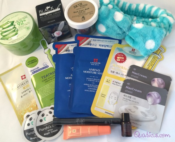 April 2016 PinkSeoul K-Beauty Box Korean Skincare Subscription Makeup