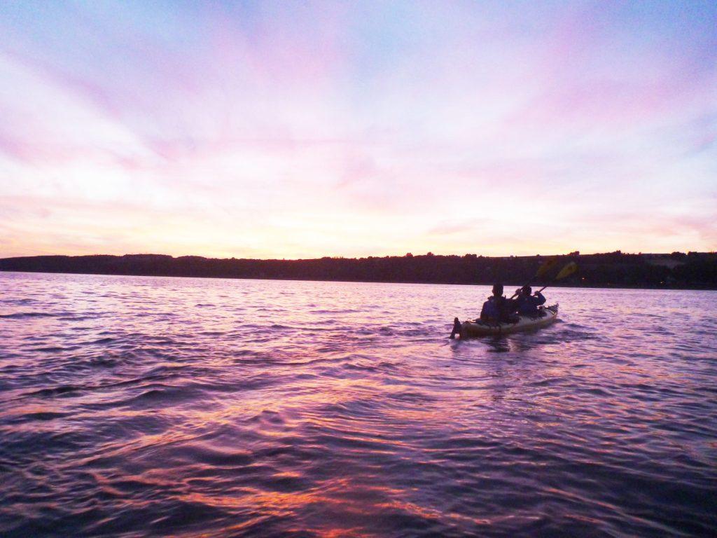 Kayak de mer Coucher de soleil Ile d'Orléans