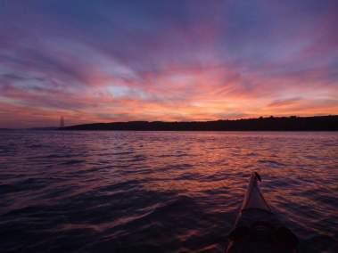 Kayak de mer Coucher de soleil Ile d'Orléans 03