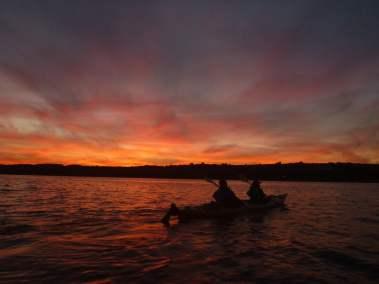 Kayak de mer Coucher de soleil Ile d'Orléans 04