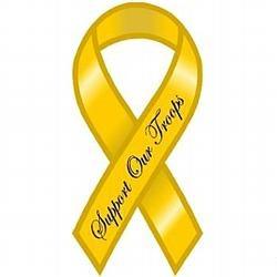 image of yellow ribbon magnet