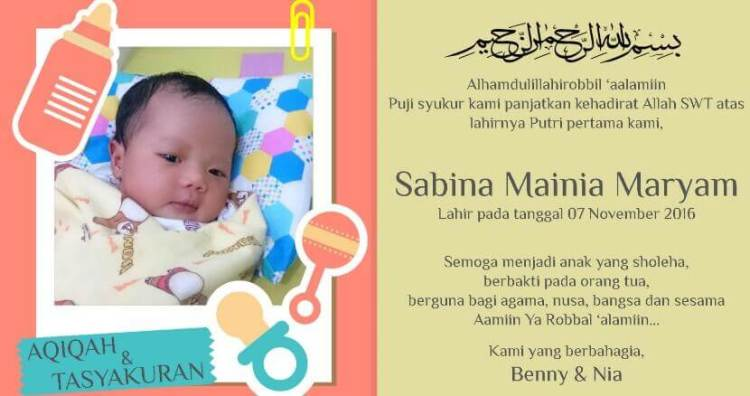 Paling Baru Download Background Kosong Undangan Aqiqah ...