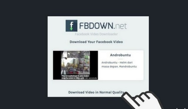 cara download video di facebook online