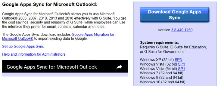 que-com-googleappssync-microsoft-outlook
