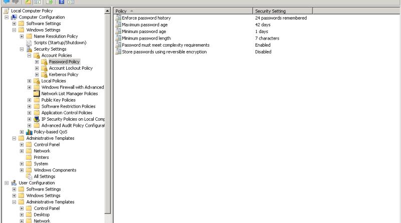 QUE.com Windows Server 2008 R2 Local Security Policy