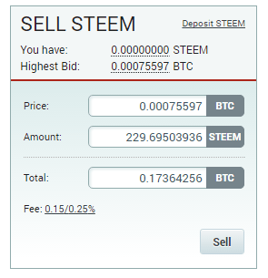 QUE.com.Poloniex.STEEM.sell