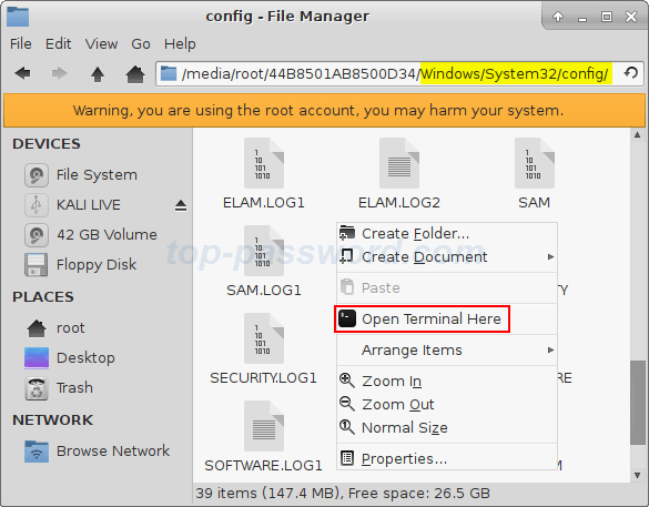 Que.com.open-terminal-in-kali.by.top-password.02