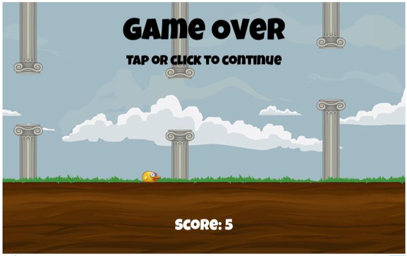 Flappy Bird score 5