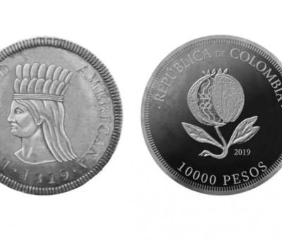 Ponen en circulación la nueva moneda conmemorativa de 10.000 pesos en Colombia