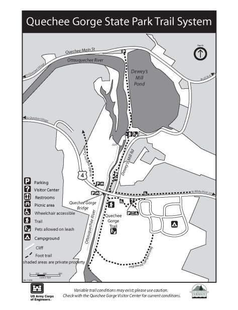 Quechee Gorge Trail Map