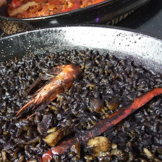 Paella marisco directo al grano