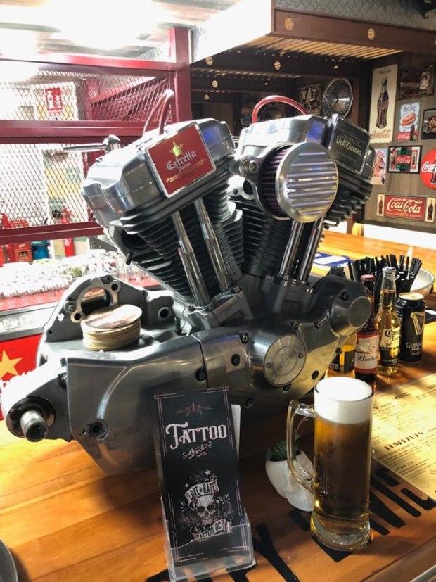Motor harley davidson cerveza