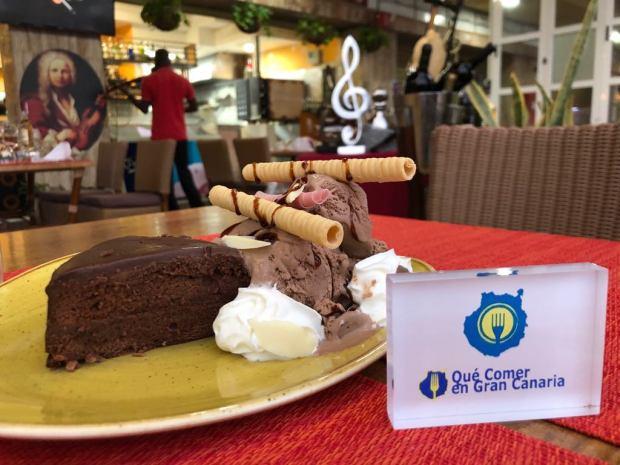 Tarta de chocolate Restaurante Vivaldi