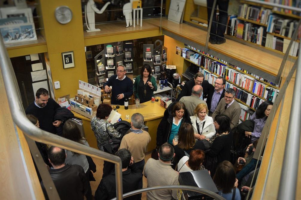 Presentación en la Librería Anónima de El tenedor de libros.