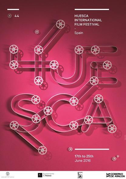 Cartel de la 44ª edición del Festival Internacional de Cine de Huesca.