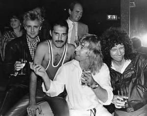 Urodziny Freddiego po koncercie w Wembley Arena - 1984 r.