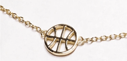 A dainty basketball necklace that makes the perfect women's gift