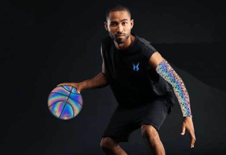 A holographic shooting arm sleeve makes a great basketball gift