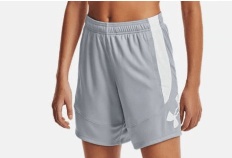 Under Armour women's colorblock basketball shorts