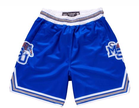 Memphis State Tigers 1991-1992 Retro basketball shorts