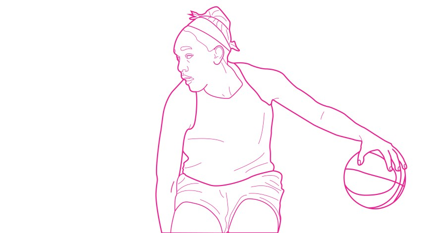 A'ja Wilson WNBA coloring book page for free from Queen Ballers Club