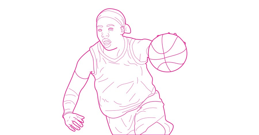 Arike Ogunbowale free coloring page WNBA from Queen Ballers Club