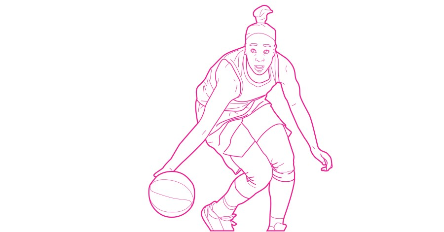Jewel LLoyd free coloring book page for WNBA from Queen Ballers Club