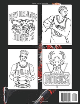 An NBA All Stars coloring book