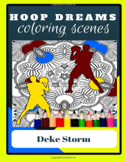 A groovy basketball coloring book
