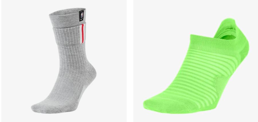 Thicks vs thin socks