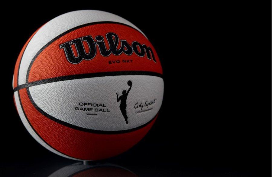The new 25th anniversary WNBA ball