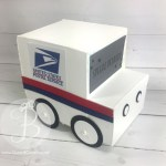 Postal mail truck stampin