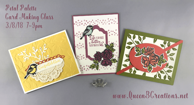 Stampin' Up! Petal Palette card making class in Twin Falls, ID
