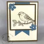 Handmade birthday card made with Stampin