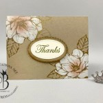 Good Morning Magnolia whitewash technique over heat embossing by Lisa Ann Bernard of Queen B Creations