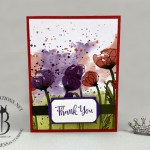 Peaceful Poppies DSP Thank You card by Lisa Ann Bernard of Queen B Creations