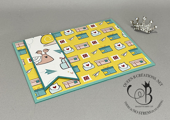 Stampin' Up! Snailed It Snail Mail DSP Card by Lisa Ann Bernard of Queen B Creations