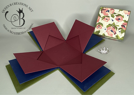 Stampin' Up! Fine Art Floral Exploding Box Photo Album by Lisa Ann Bernard of Queen B Creations