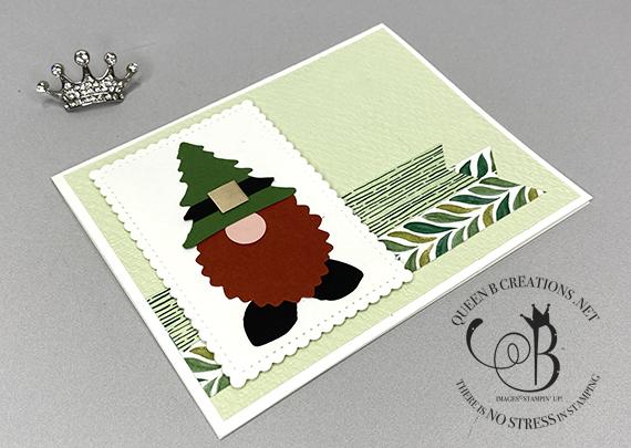 Stampin' Up! Forever Greenery Punch Art Leprechaun St Patricks Day card by Lisa Ann Bernard of Queen B Creations