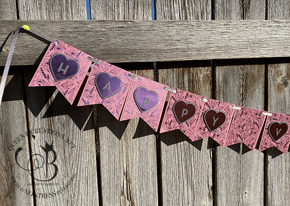 Stampin' Up! Love You Always Playful Alphabet Valentines Day Banner by Lisa Ann Bernard of Queen B Creations
