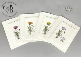 Painted Poppies Sympathy Cards