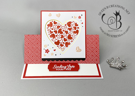 Stampin' Up! Sending Love January 2021 Paper Pumpkin alternatives & stamp case insert by Lisa Ann Bernard of Queen B Creations