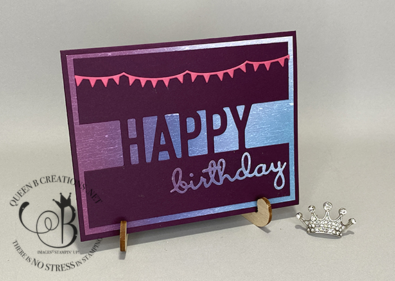 Stampin' Up! Well Written Happy Dies Artistry Blooms birthday card by Lisa Ann Bernard of Queen B Creations