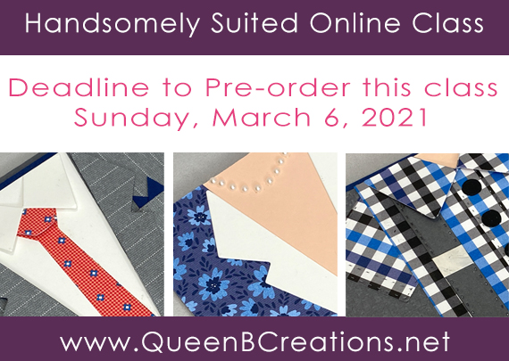 Handsomely Suited online class by Lisa Ann Bernard of Queen B Creations