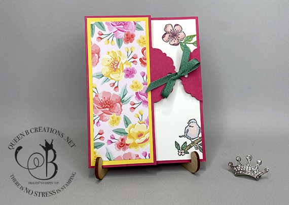 Stampin' Up! Birds and Branches tag closure card by Lisa Ann Bernard of Queen B Creations